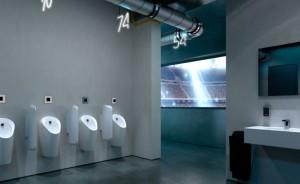 Sistema de urinarios Geberit: Un diseño eficiente en los baños públicos