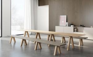 TRESTLE: Sistema de asientos y mesa a juego – Volver a lo básico
