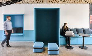 Office Lounging, Ghislaine Viñas Interior Design features Viccarbe furniture
